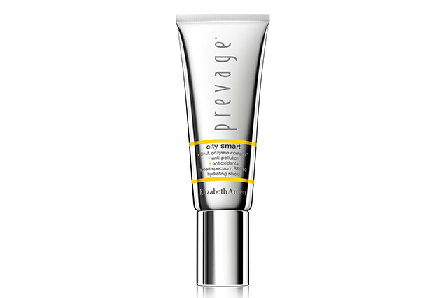 Elizabeth Arden Prevage City Smart with Sunscreens Hydrating Shield, $89: designed to be worn under make-up as the last step in your skincare routine, this sheer, non-comedogenic formula contains the world's most powerful antioxidant, Idebenone, plus green tea, ferulic acid and a DNA Enzyme Complex to neutralise free radical damage and support the skin's natural repair process.