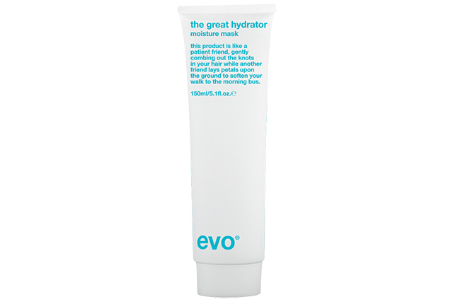 "Evo The Great Hydrator Moisture Mask: designed for frizzy, dry or colour-treated hair, this masque works to boost moisture levels and improve the manageability of unruly locks.<p><a style=""font-size: 17px; line-height: 29px;"" href=""http://evohair.com/hair/thegreathydrator-moisturemask-150ml.html"">evohair.com</a></p>