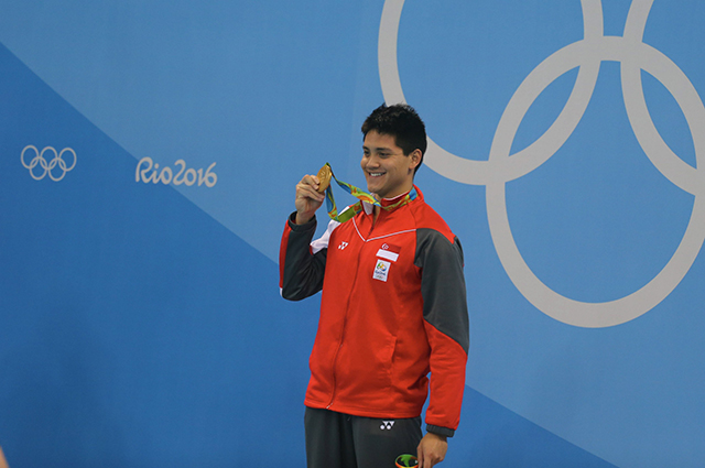 Joseph Schooling: Singapore's Joseph Schooling caught the world's attention when he prevented Phelps from snagging another gold medal when he beat him in the 100m butterfly.