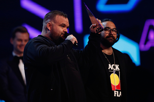 "A.B. Original won Best Urban Release and Best Independent Release for 'Reclaim Australia'. Their song on the record 'January 26' brought to light the impact of celebrating Australia Day on the Indigenous people of our nation. ""The main point of this whole record was to spark an idea, a change and an expectation of what an indigenous artist could be. We aren't saying we have to make it through the struggle, we're persistent, we've made it through 80,000 years,"" Briggs said. They dedicated the award to his late friend Dr G. Yunupingu."
