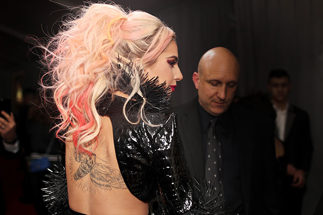 Lady Gaga's candy-pink highlights