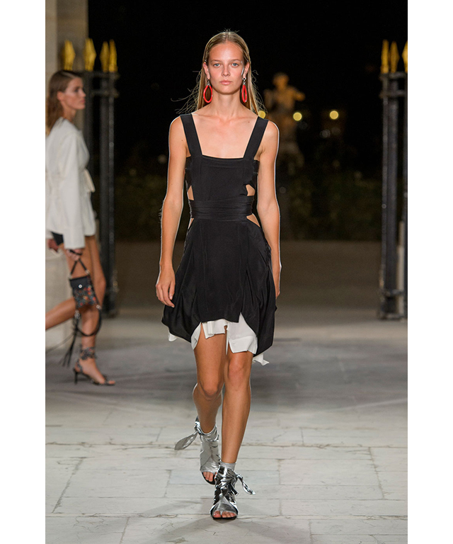 Isabel Marant: fluid silk cutouts