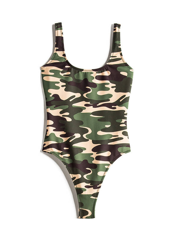 Kendall + Kylie Swim X Revolve Low Back one piece, $173