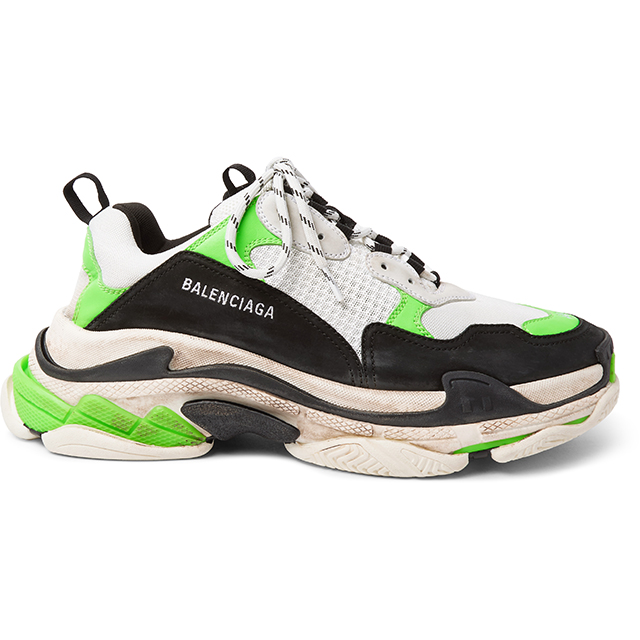 MR PORTER X BALENCIAGA Triple S Mesh, Nubuck and Leather Sneakers