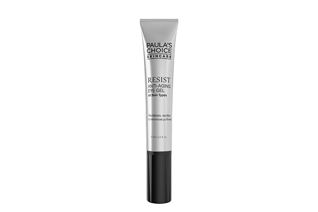 "5.	Paula's Choice RESIST Ant-ageing Eye Gel, $55. Using a blend of peptides, phospholipids, and hyaluronic acid, this targeted gel works to fight the pesky signs of ageing. In other words: it brightens, hydrates, minimises fine lines and reduces signs of fatigue. With a formula brought to you by world-renowned skincare expert Paula Begoun (she's a whiz when it comes to product reviews), you know this isn't going to just sit on your face and do nothing. Bonus: we love the cooling action of this gel – so refreshing.<p><a style=""font-size: 17px;"" href=""http://www.paulaschoice.com.au/resist-anti-aging-eye-gel/214.html"">paulaschoice.com.au</a></p>