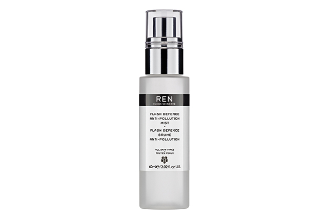 REN Flash Defence Anti-Pollution Mist, $59: spritz on bare skin or over make-up throughout the day to provide an invisible barrier against environmental pollutants. Free from all nasties like parabens, the mist won't clog pores and also works to reduce redness. Available in Australia from August 24.