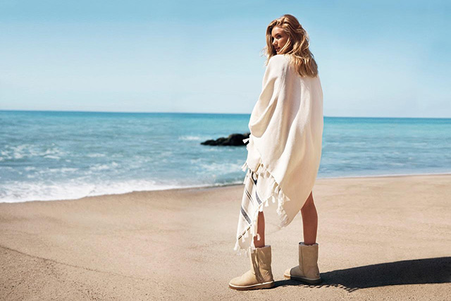 Rosie Huntington-Whiteley behind the scenes on the new Ugg campaign
