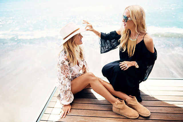 Stylist on-duty Rachel Zoe works with Rosie Huntington-Whiteley
