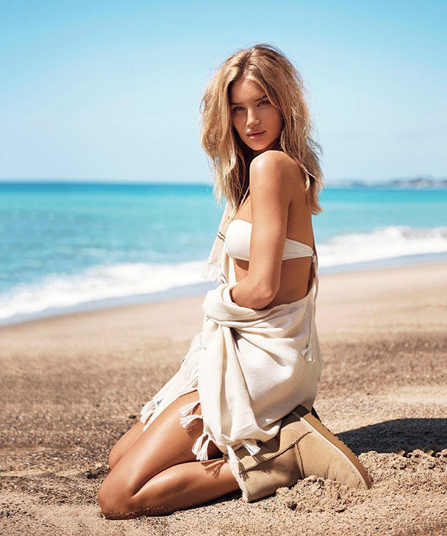 Rosie Huntington-Whiteley in the new Ugg campaign