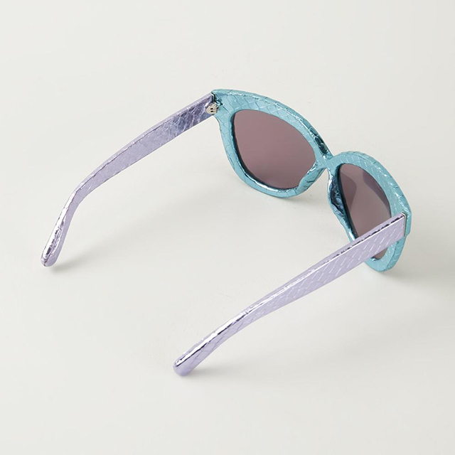 Linda Farrow two-tone snakeskin acetate sunglasses; $747 at Farfetch.com.