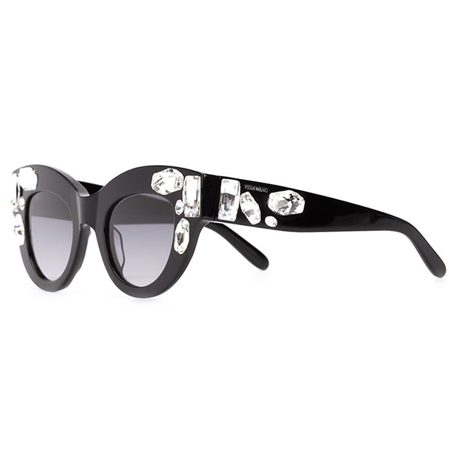 Vera Wang crystal-embellished cats-eyes; $584 at Farfetch.com.