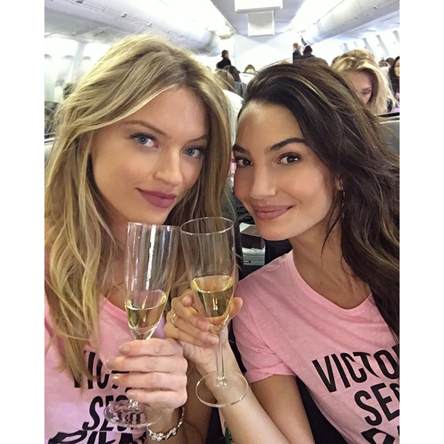 Martha Hunt and Lily Aldridge
