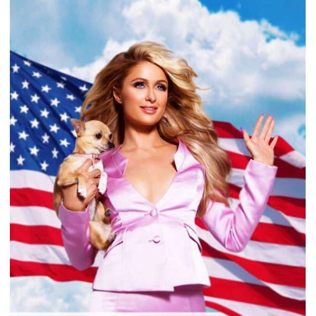 Paris Hilton gets patriotic.