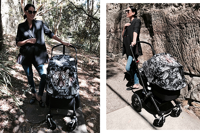 Lindy Klim with her Bugaboo by We Are Handsome pram