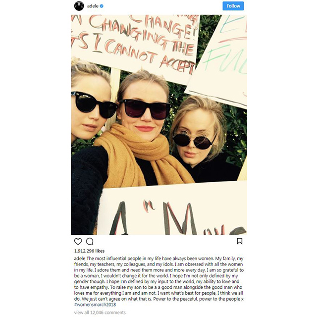 "Jennifer Lawrence, Cameron Diaz and Adele<p>Via <a href=""https://www.instagram.com/p/BeL7Jr7lrnG/?utm_source=ig_embed&utm_campaign=embed_ufi"" target=""_blank"">@adele</a></p>"