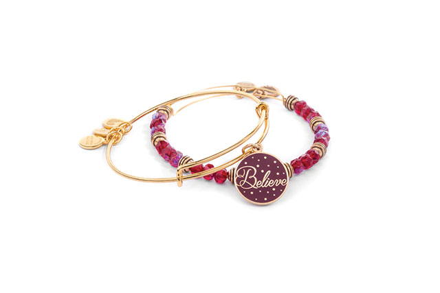Believe Wine Art Infusion Set of two bangles, $115