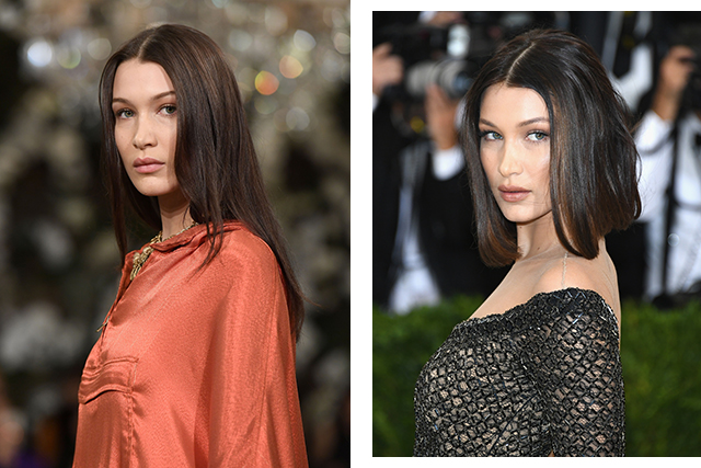Bella Hadid chopped her long waves into a shoulder-length bob creating what has now become her signature look.