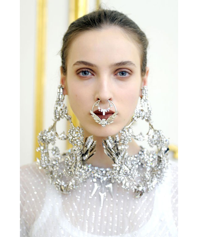 Givenchy's boundary-pushing face jewellery for Spring 2012 Couture