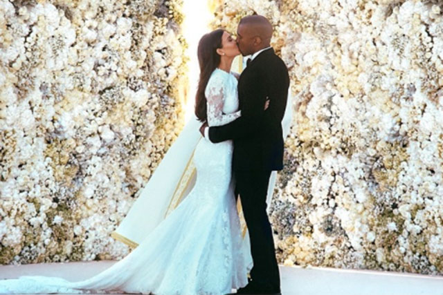 Kim Kardashian marries Kanye West in Givenchy couture