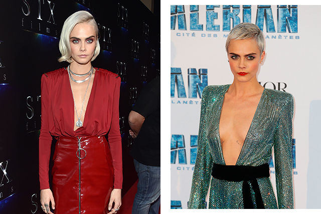 Cara Delevingne went for the ultimate crop, chopping her shoulder-length hair into a pixie cut.