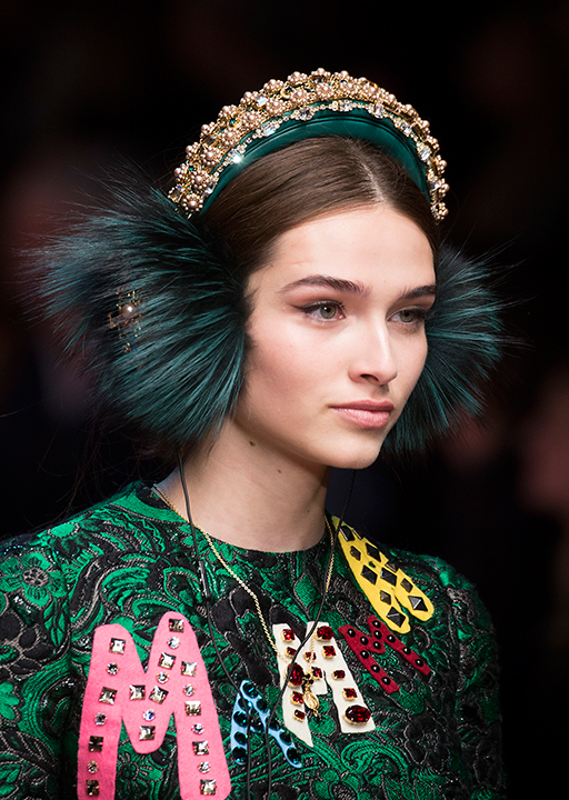 Dolce & Gabbana:  Embellished headbands and ear muffs