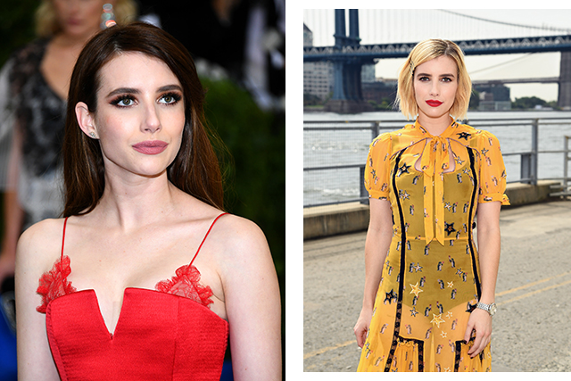 Emma Roberts crossed to the light side, dying her chestnut tresses an warm blonde hue.