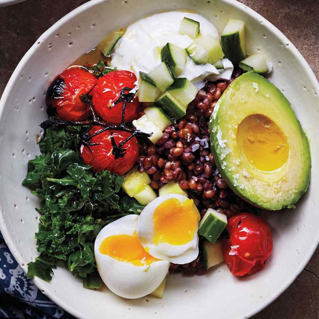 "Eat a healthy breakfast: ""Food quite literally fuel for our bodies, so it's important that you consume the appropriate types and amounts to function optimally. Try some protein for breakfast, such as eggs, or a bowl of oatmeal in the morning to get your day off to a good start."""