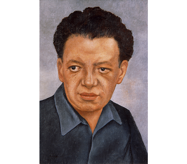 "Frida Kahlo, 'Portrait of Diego Rivera', 1937. This is a portrait of Frida's husband, the famous Mexican muralist Diego Rivera. At the time this portrait was painted Diego was 51 years old. However, in this portrait he appears to be much younger and thinner. Perhaps because this it was painted shortly after Diego was released from the hospital where he was recovering from an eye infection and kidney problems, or perhaps it is a reflection of Frida's deep love for him. An entry in Kahlo's diary, written in the last decade of her life, reads ""Diego = my husband / Diego = my friend / Diego = my mother / Diego = my father / Diego = my son / Diego = me / Diego = Universe.""<p>Frida Kahlo, <i>Portrait of Diego Rivera</i>, 1937, oil on Masonite, 46 x 32 cm, The Jacques and Natasha Gelman Collection of Mexican Art, © 2016 Banco de Mexico Diego Rivera, Frida Kahlo Museums Trust, Mexico DF </p>"