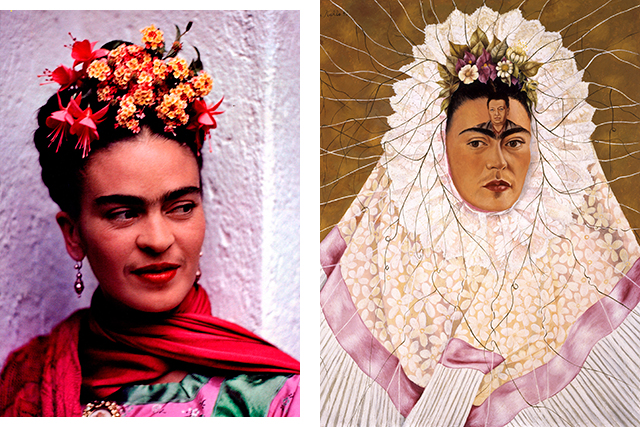 Click through to read the stories behind some of Frida Kahlo's most iconic works