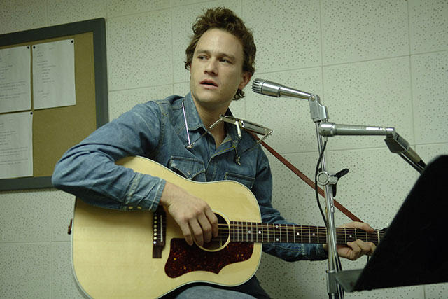 I'm Not There., 2007: In a mind-bendingly meta exercise, Ledger portrays an actor in a film-within-a-film coming to terms with his own fame. His character, as was the whole film, was inspired by Bob Dylan.