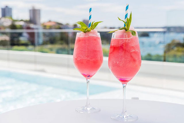 Intercontinental, Double Bay: There's no greater spot to sip on cool, frozen rosé than at the rooftop bar at the Intercontinental hotel. Their signature frosé cocktail is a must-have on the list.