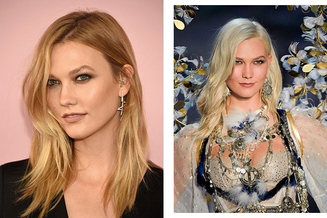 Karlie Kloss went for a much fiercer look changing her mousey blonde locks to a striking icy hue.