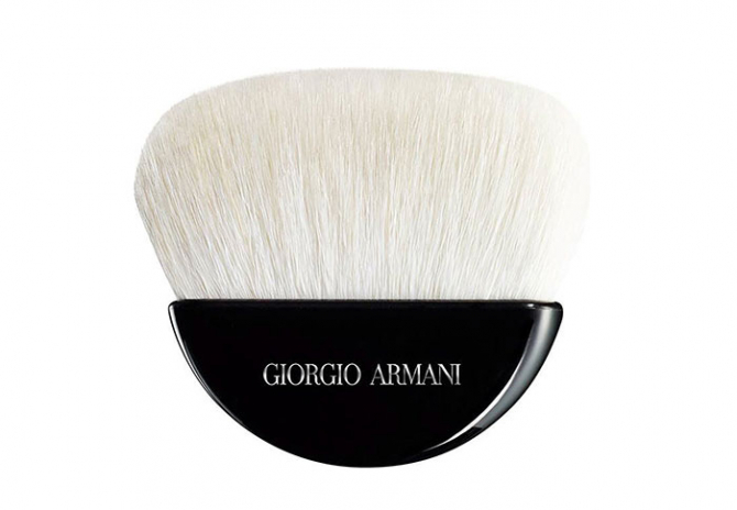 For sculpted bronzer: Georgio Armani Sculpting powder brush, $179