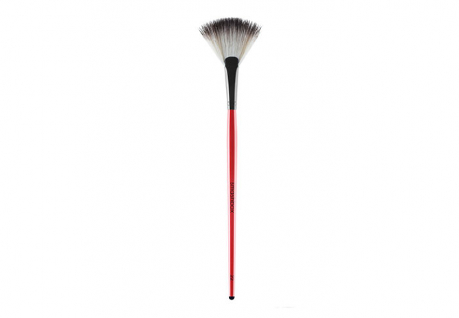 For cleaning up spilled shadow: Smashbox Fan Brush No.22, $26
