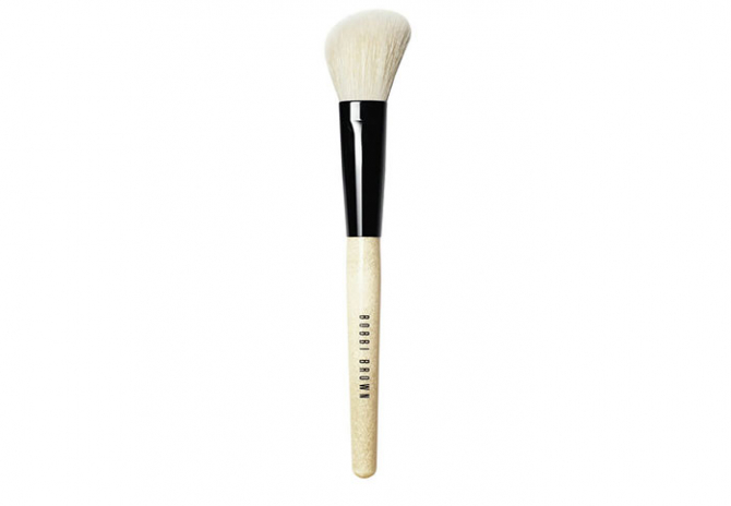 For applying highlighter: Bobbi Brown Angled Face Brush, $77