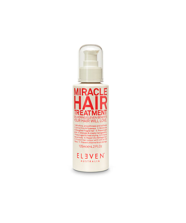 ELEVEN-miracle hair treatment: is incredible! I use it every time I wash my hair. It takes away all fizziness and leaves my hair with a super healthy glow. Truly a miracle worker.