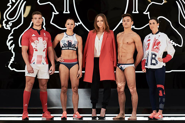 Stella McCartney for Adidas x Team Great Britain: Super Brit designer Stella Mac for Adidas' classy 2012 Games gear (see next image) meant she was a no-brainer to do the 2016 kit.
