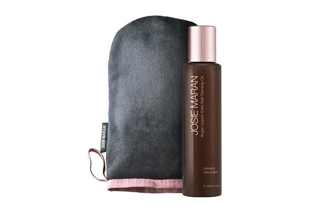 This self-tanner superbly hydrates dry limbs all while giving you a completely believable fake tan. Josie Maran Cosmetics Mango Argan Liquid Gold Self-Tanning Oil, $61