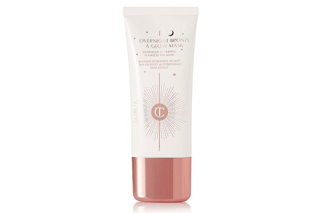 Invest in an overnight tanning mask like Charlotte Tilbury Overnight Bronze & Glow Mask, $52.20. You'll wake up with hydrated, revitalised skin with a subtle glow as well.