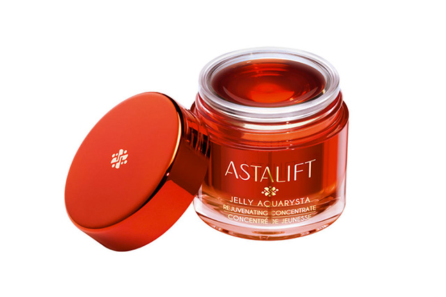 Astalift Jelly Aquarysta. A strange jelly-like substance brought to you by Fuji (yes, the camera company) this wonder product uses patented film technology to create microparticles of collagen for the ultimate in anti-ageing.