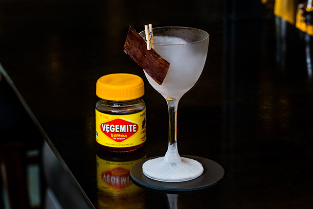 Vegemite martini, The Old Clare Hotel