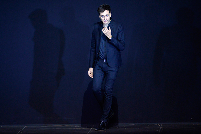 Rumoured: Hedi Slimane (pictured) to leave Saint Laurent following a failure to reach an agreement on the renewal of his contract. The Belgian designer Anthony Vaccarello – recently made creative director of Versace last September – is set to replace him.