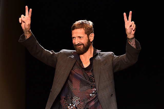 Rumoured: Stefano Pilati (pictured) - who moved to Zegna from YSL in 2013 following positions at Miu Miu, Prada and Giorgio Armani – is, like Erdem Moralioglu, fuelling talk of a possible move to Lanvin in the wake of Albaz's departure.