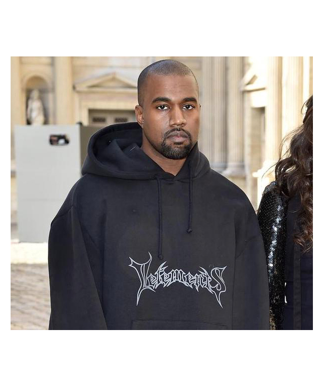 Kanye West wearing Vetements