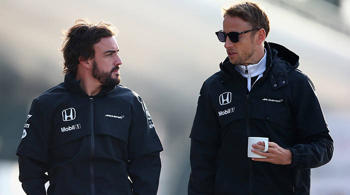 Watch: Fernando Alonso and Jenson Button face off before Formula 1