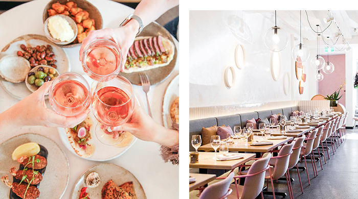 Free flowing rosé at the slickest table in town? This is not a drill