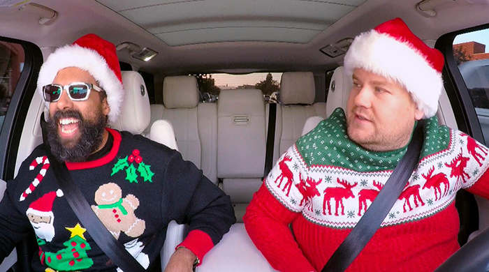 You need to watch James Corden's Xmas Carpool Karaoke
