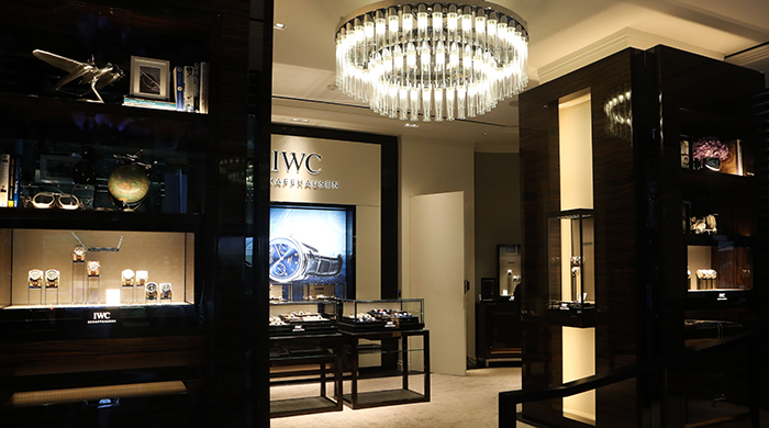 Inside the opening of Australia's first IWC Schaffhausen boutique