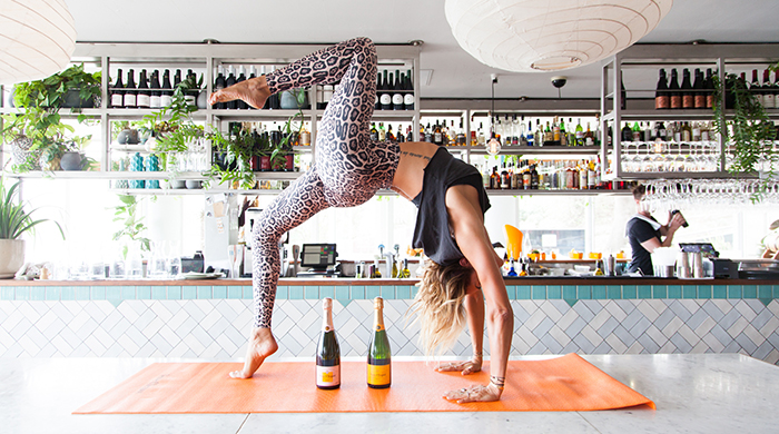 Finish a Pilates class with a bottomless champagne brunch