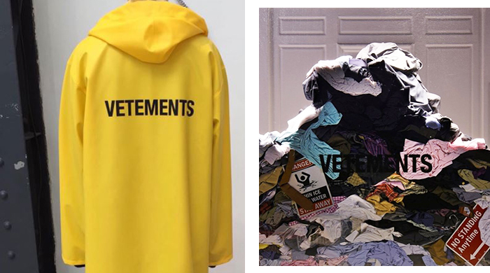Vetements makes a statement in Saks Fifth Avenue's front windows